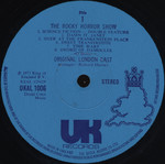 Rocky Horror Show, 1973 London Cast LP, UK Records (Disc Label Side One)
