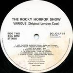 Rocky Horror Show, 1973 London Cast LP, Dojo Records (Disc Label Side Two)