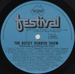 Rocky Horror Show, 1974 Australian Cast LP, Festival Records (Disc Label Side Two)
