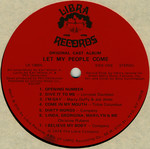 Let My People Come: A Sexual Musical, Original Cast LP (Disc Label Side One)