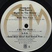 """Tim Curry """"Fearless"""" LP (Disc Label Side One)"""