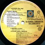 """Timbiriche """"La Banda Timbiriche: En Concierto"""" LP (Disc Label Back)"""